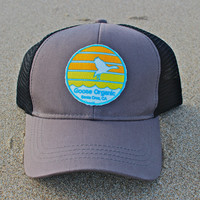 The Organic Trucker Cap, Sunset Logo
