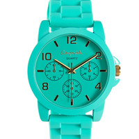 Aeropostale Womens Color Rubber Watch