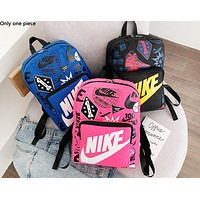 NIKE sells big monogram printed backpacks fashionable shopping backpacks for men and women