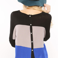 Color Block Back Point Top