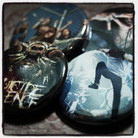 """Suicide Silence set of 4 Pinback Buttons 1 1/4"""", featuring Mitch Lucker """"No Time To Bleed"""""""