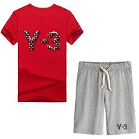Trendsetter Adidas Y-3 Women Men Casual Sport T-Shirt Top Tee Shorts Set Two-Piece