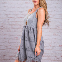 Summer Studies Dress, Slate Blue