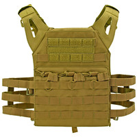 Junior Padded Tactical Vest - Tan
