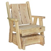 A & L Furniture Blue Mountain Timberland Glider Chair