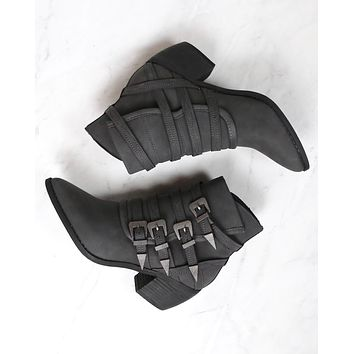 Miracle Miles - Fayth Western Bootie in Black