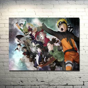 Naruto Sasauke ninja  THE MOVIE Art Silk poster 13x18 24x32 Inch Anime Pictures Uzumaki  Sasuke Kakashi for Wall Decor  044 AT_81_8