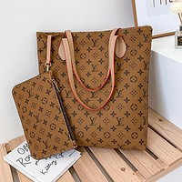 Louis Vuitton LV Hot Two-piece Set Handbags Coin Purses Fashion Ladies Shoulder Bags