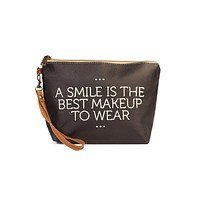 """"""" A Smile Is The Best Makeup To Wear..."""" Cosmetic Bag"""
