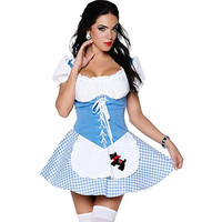 Leg Avenue Womens Dorthy Girl Halloween Party Dress Costume
