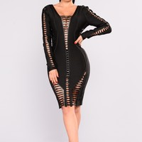Why You So Obsessed With me Dress - Black