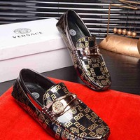 Versace Men Fashion Peas shoes Size 38-44