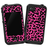 Pink Leopard Skin  for the iPhone 4/4S Lifeproof Case by skinzy.com