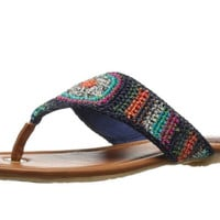 The Sak Shana Beatnik Stripe Crochet Thong Flip Flops