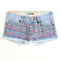 Roxy Embroidered Front Panel Shorts at PacSun.com