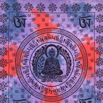 MANDLA BEDSHEETS Buddha OM Tapestry, Om Tapestry Wall Hanging Mandala Throw Cotton Queen Bedspread Beach Spread Bed Spread Picnic Spread
