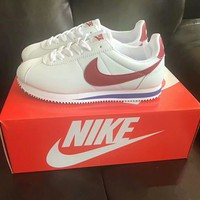 """Nike Cortez"" Women Casual Fashion Multicolor Leather Running Shoes Retro Sneakers"