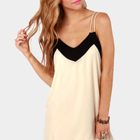 Straps Fifth Avenue Black and Ivory Dress