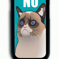 Samsung Galaxy S3 Case - Rubber (TPU) Cover with Cactus the Cranky Cat Rubber Case Design