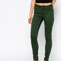 Pieces Green Five Pocket Skinny Jegging