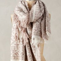 Tolani Snow Forest Scarf in Beige Size: One Size Scarves