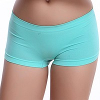 New Sexy Women Ladies Casual Comfortable Seamless Boxer Shorts culotte femme Safety Panties Sexy Lingerie Underwear Boyshort F15