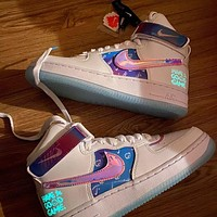 Nike Air Force One AF1 Shoes Video Game Pixel Laser White Colorful Low-Top Sneakers