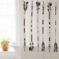 4040 Locust Black + White Arrows Shower Curtain