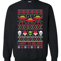 The X-Files: I Want to Believe Ugly Christmas Sweater sweatshirt unisex adults size S-2XL