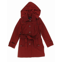 London Fog Womens Chatherine Water Resistant Hooded Raincoat