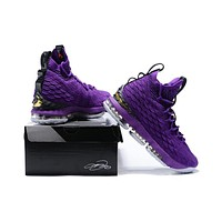 Nike LeBron 15 XV Purple Basketball Shoe