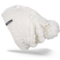 DAKINE Women's Beverly Tall Cable Beanie With Pom (White, One Size)