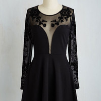 LBD Long Sleeve A-line Clearly Chic Dress
