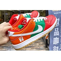 7-Eleven x Nike SB Dunk Low Red Green and Orange skateboard shoes