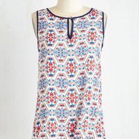 ModCloth Mid-length Sleeveless Low-Key and Folksy Top