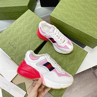 Gucci2021 Men Fashion Boots fashionable Casual leather Breathable Sneakers Running Shoes06160xf