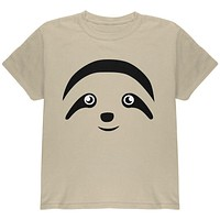 Cute Sloth Face Youth T Shirt