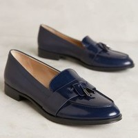 Via Spiga Amica Loafers in Navy Size: