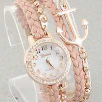 Mint Anchor Bracelet Watch from P.S. I Love You More Boutique
