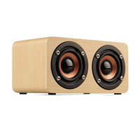 New Wooden HIFI Bluetooth Speaker 10W Dual Loudspeakers Surround Mini Portable System