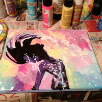 The Little Mermaid Silhouette Abstract Painting