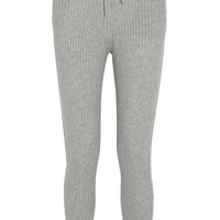 T by Alexander Wang - Ribbed wool and cashmere-blend track pants