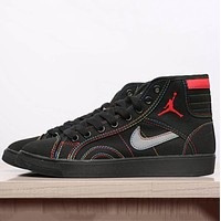 Nike Jordan Women Men Fashion Casual High Tops Running Sport Shoes Black G