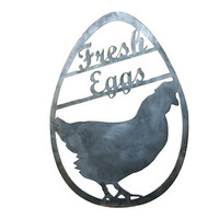 Steel Fresh Eggs Sign