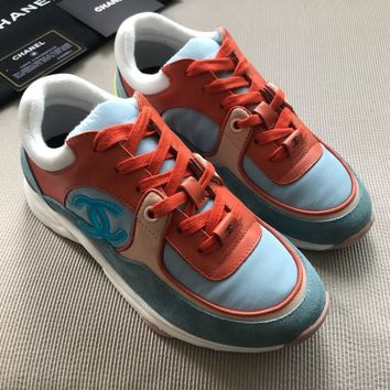 CHANE Double CC Popular Casual Shoes Sneaker Sport Running Shoes Top Quality