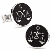 Sterling Scales Of Justice Cufflinks