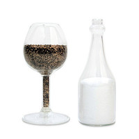 CHEERS GLASS SALT AND PEPPER SHAKERS | Seasonings, Dispensers, Kitchen Accessories, Cooking Tools, Table Settings, Humor, Wine Lovers | UncommonGoods