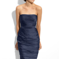 Ruched Strapless Cationic Chiffon Dress (Nordstrom Exclusive)