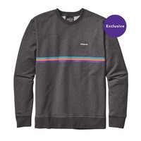 Patagonia Men's Fitz Roy Bar Midweight Crew Sweatshirt | Feather Grey