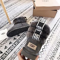 UGG New mini lady boots with fur collar-3